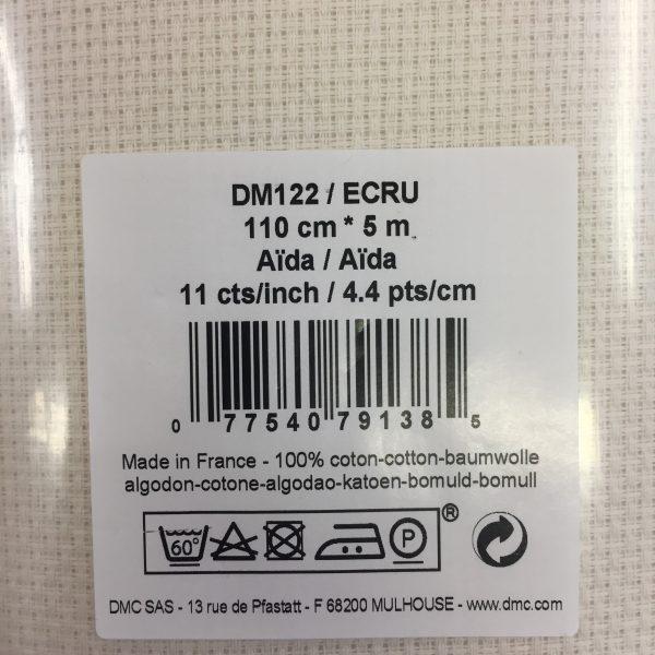 Tela Aida Dmc Ecru altezza 110 cm 44 quadretti in 11 cm_0